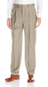 ‼EUC‼Louis Raphael Wool Dress Pants Sz 38W 33L Tan